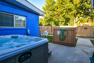 Outdoor Area with Hot Tub at Moab Vacation Rental