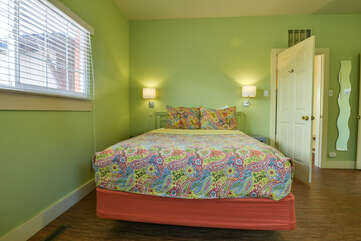 Moab Vacation Rental with Colorful Bed