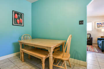 Dining area at Moab Vacation Rental