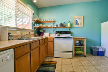 Fully Stocked Kitchen at Moab Vacation Rental