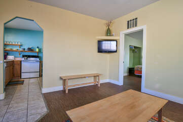 Moab Vacation Rental with TV and Living Area