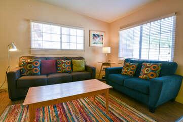 Living Area at Kokopelli Inn Towner #4