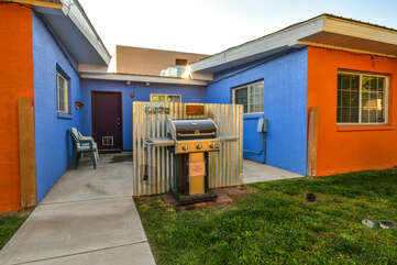 Shared yard and a grill