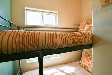 A close picture of the Bunk Beds.
