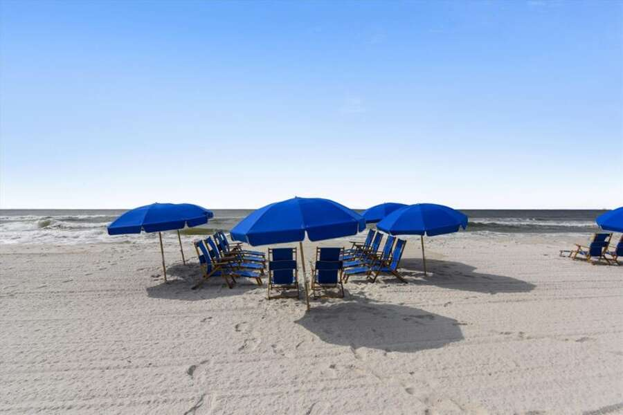 Assistance with chair rentals available through beachside vendors