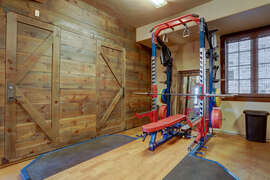 home gym (shared space)