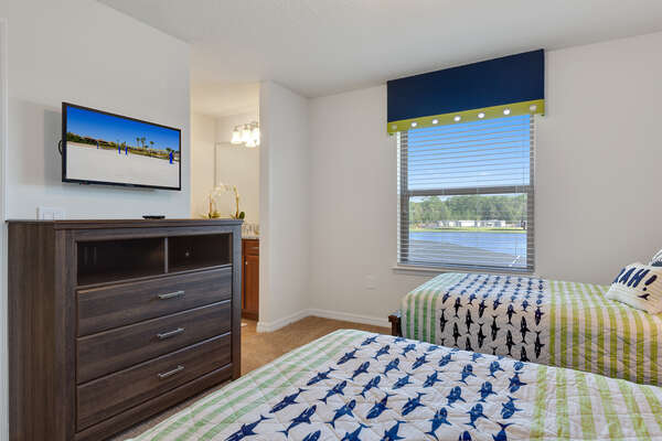 Personal TV, view of the water and access to the Jack and Jill bathroom
