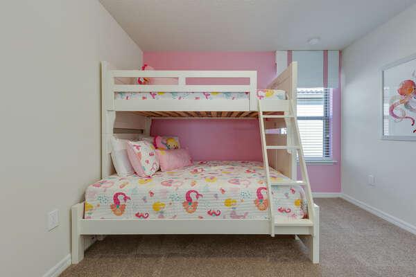 Kids can choose this fun mermaid-themed bedroom