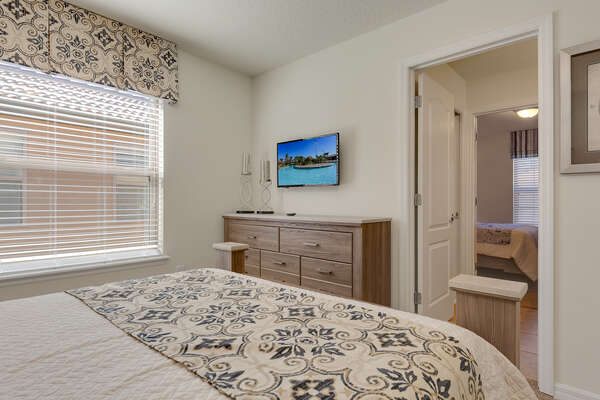 Featuring a TV and access to a jack and jill bathroom