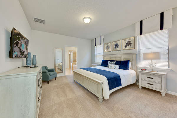 Have a restful sleep in this master bedroom