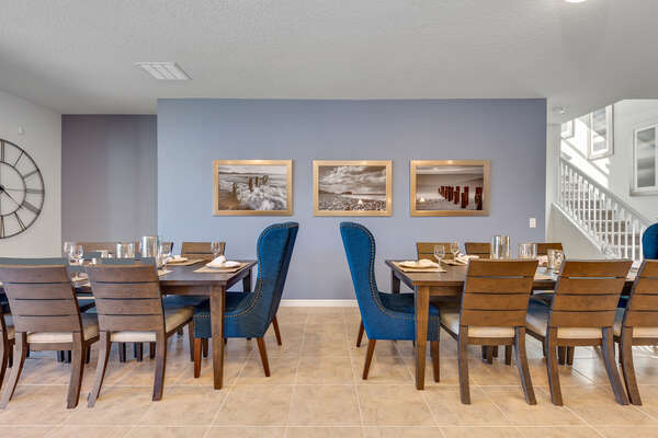 2 Dining tables that seat 12 in total