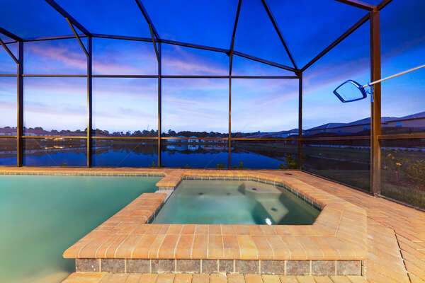 Unwind in the spillover spa after an exciting day