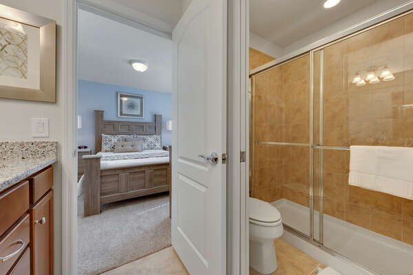 Jack and Jill bathroom with a walk-in shower