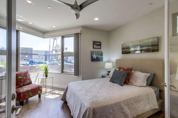 Ground Floor Bedroom Includes Queen Bed.