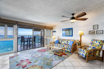 Located directly ocean front