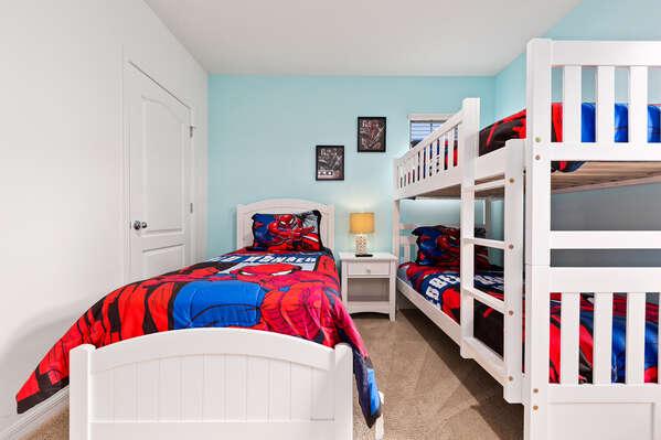 Superhero themed kid's bedroom
