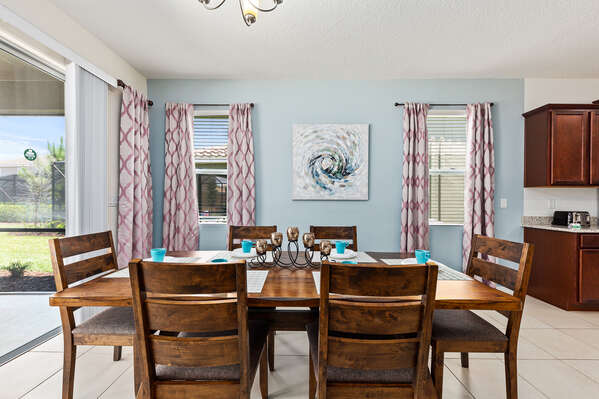 Dine together at the formal dining table
