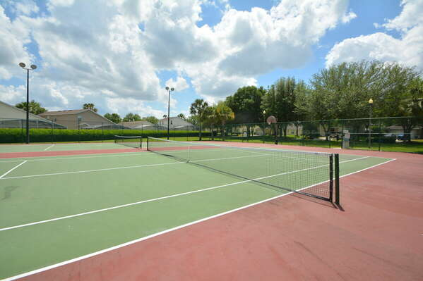 On-site amenities:- Tennis and basketball courts