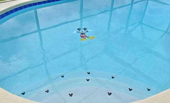 Character tiles in pool