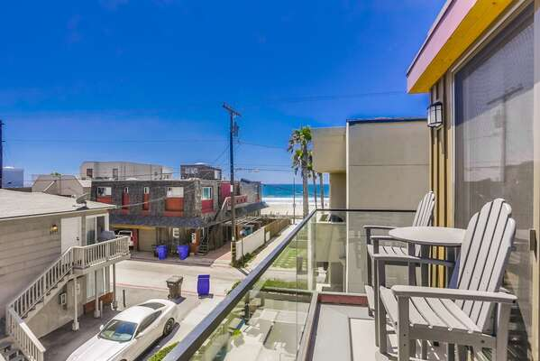 Ocean Views from the balcony of this San Diego Vacation Rental Home.
