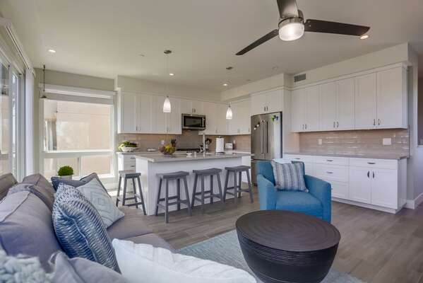 Open Floor Plan of this Vacation Rental San Diego CA.