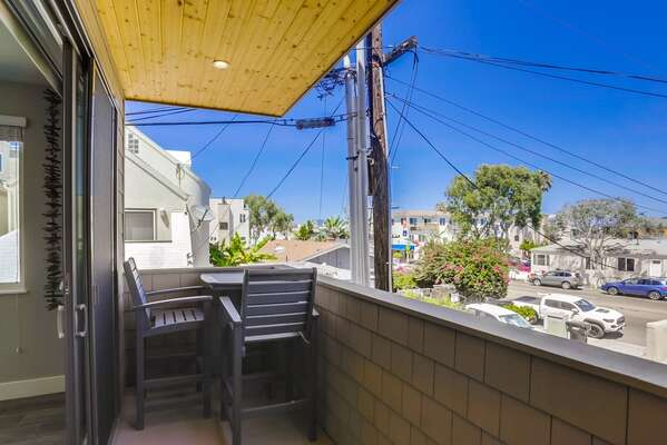 Master Balcony of this Vacation Rental San Diego CA.