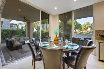 Watch the sunrise over the golf course from the huge kitchen table