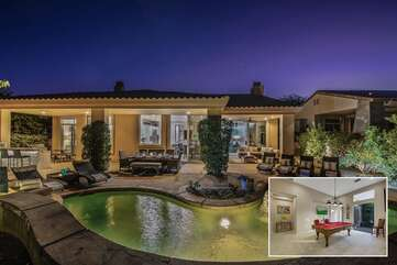 Caddyshack is a large 4 bedroom 3.5 bath home in the private, guard gated PGA West