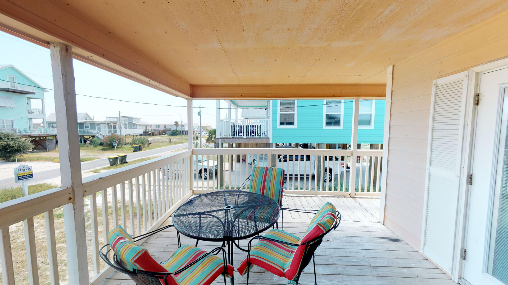 Patio Table and Chairs in the Covered Deck.