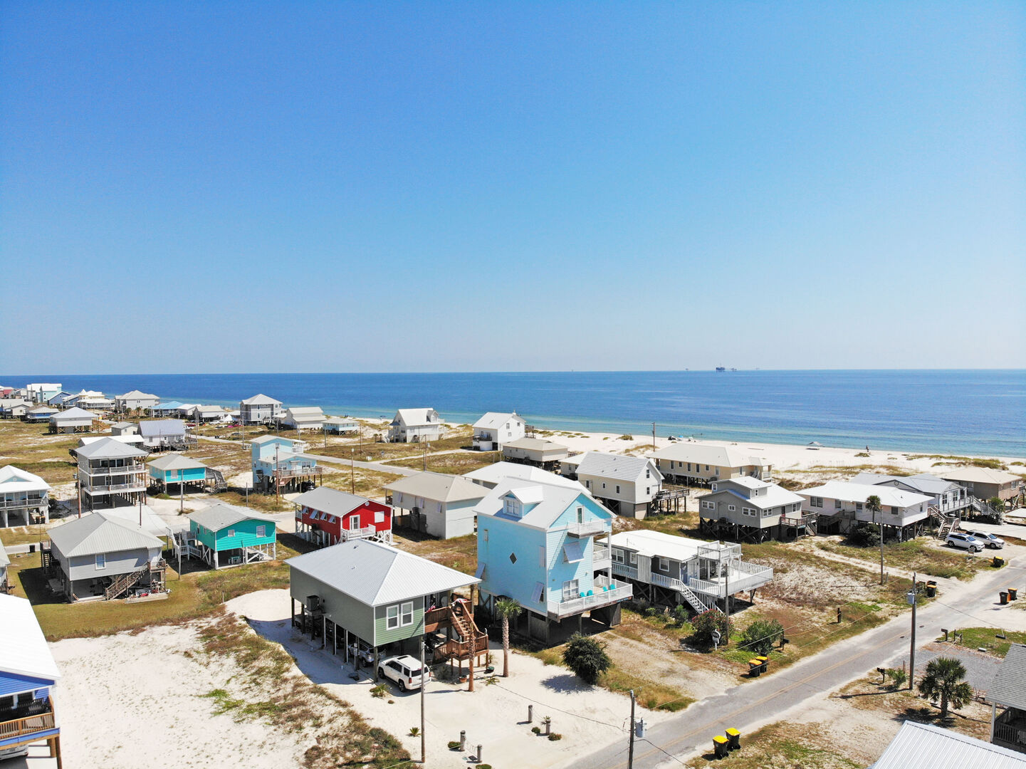 Aerial View of the Neighborhood on the Beach.