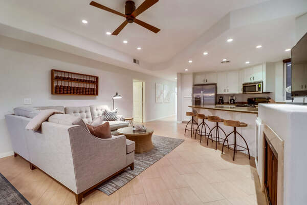 Living Room and Kitchen with ample seating