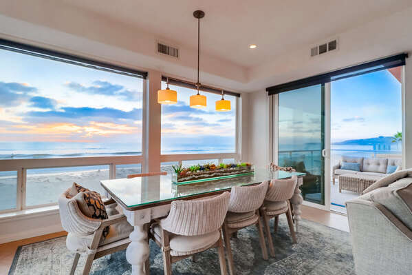 Dining Area with seating for 5 and ocean views.