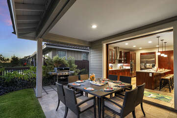 Outdoor dining option, private BBQ