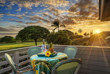 Beautiful sunset from private lanai
