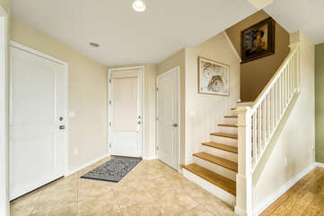 Condo entrance/Stairs to bedrooms