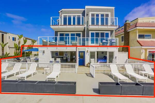 Entire First Floor + Exclusive-Use Ocean Front Patio