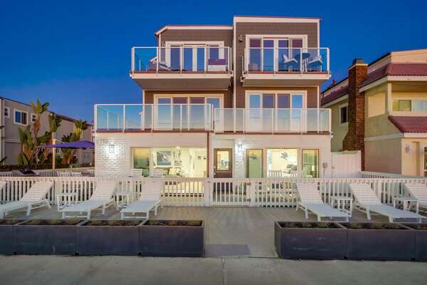 Exterior of our Beachfront Rental in San Diego (Lower Unit)