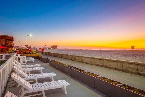 Beachfront Patio Along the Boardwalk
