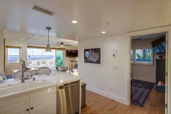 Kitchen Hallway in our Beachfront Rental in San Diego