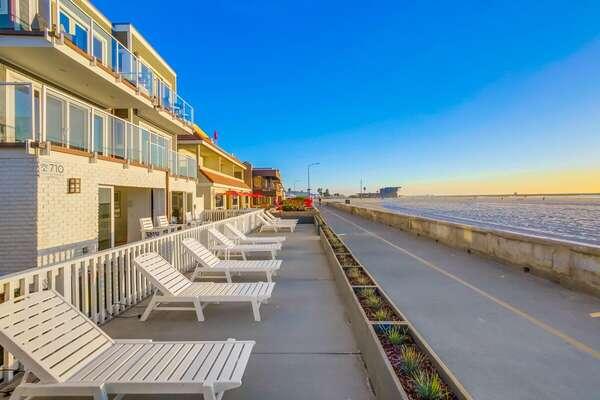 Oceanfront Patio off the Boardwalk