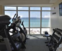 Fitness Center Overlooking Ocean