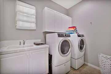 Take advantage of the newer washer/dryer and go home with clean clothes :)