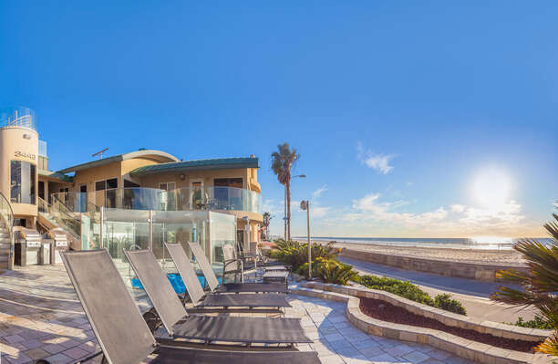Image of Oceanfront Shared Patio.