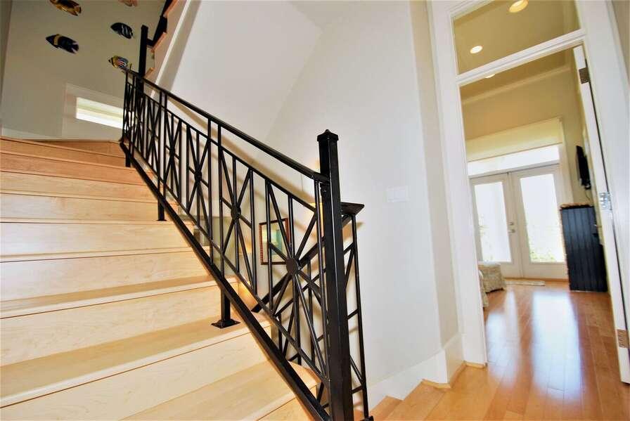 Stairway to top floor lookout room