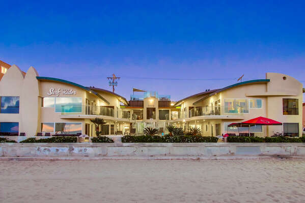 Image of Vacation Condo in San Diego in the Evening.