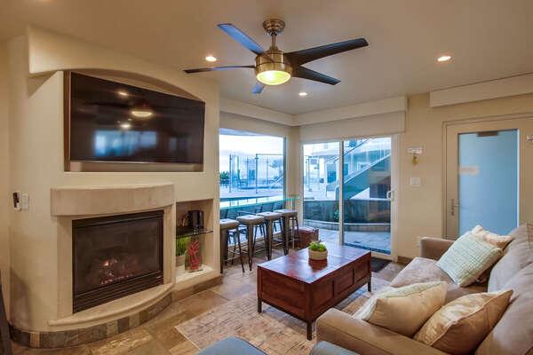 Living Room Area Offers Ocean Views.