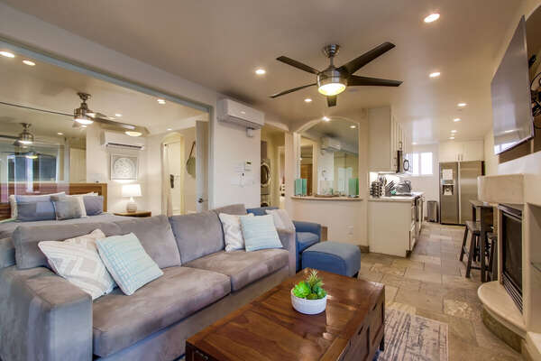 Image of Living Area in Vacation Condo in San Diego.