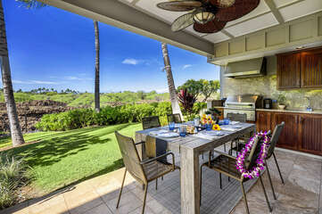 Peaceful lanai to relax & unwind at Palm Villas H1