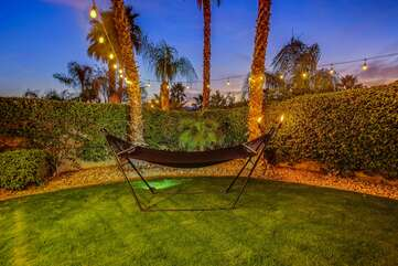 Relax on the huge hammock