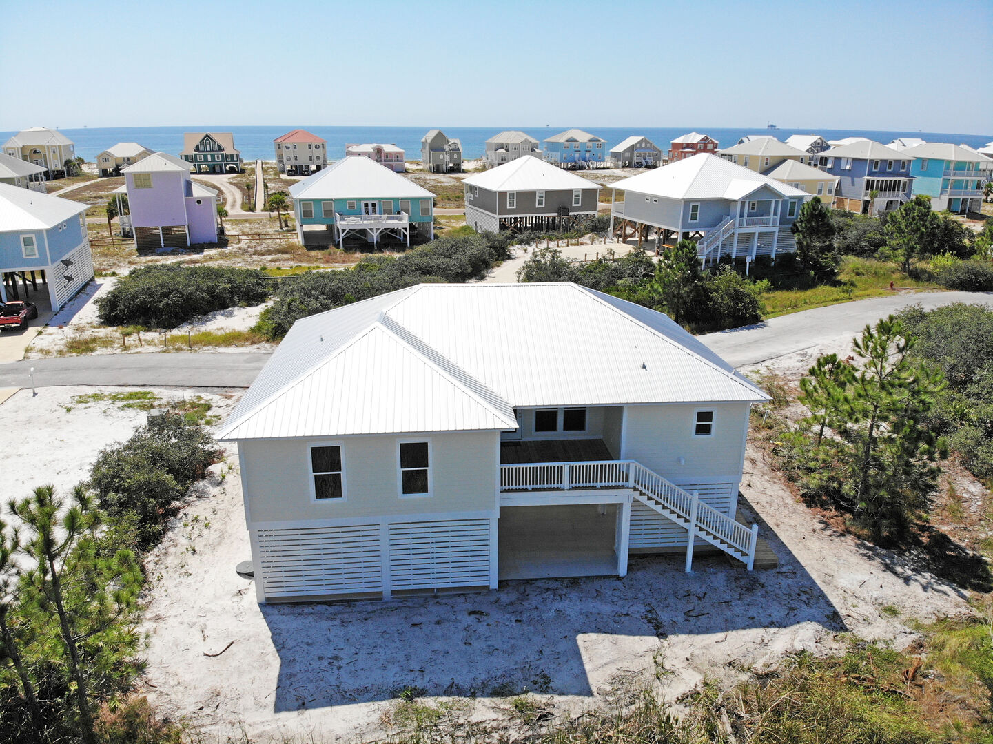 Back view of this Gulf Shores Vacation Home